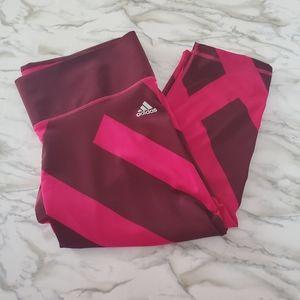 Adidas Pink Climalite Capri Leggings XL